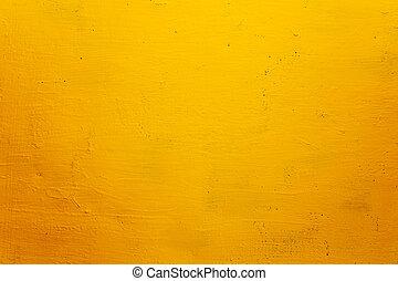 La pared del grunge amarillo para la textura