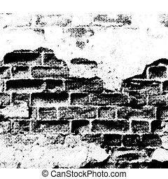 La pared del tanque, vector