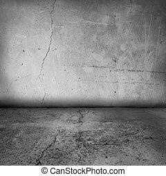 La pared interior y el piso