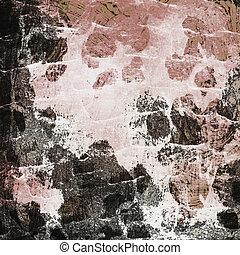 La pared sucia
