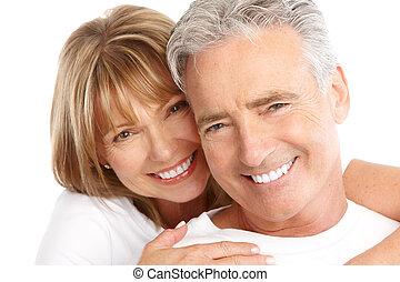 La pareja de ancianos