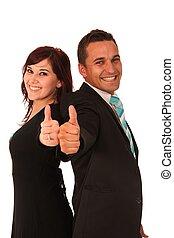 La pareja de negocios
