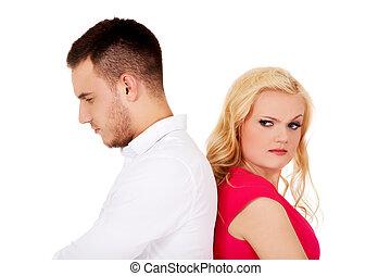 La pareja de Quarreling no se habla