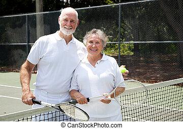 La pareja de tenis
