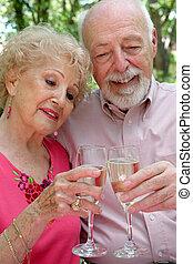 La pareja mayor feliz juntos