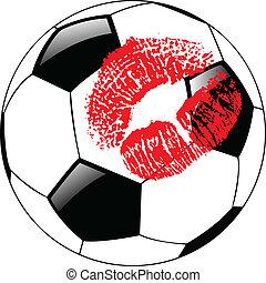 La pelota de vector con labios