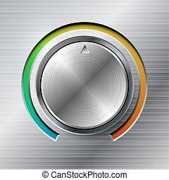 La perilla de volumen con escala de color