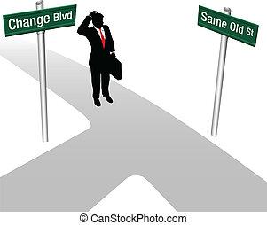 La persona elige lo mismo o cambia de decisión