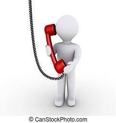 La persona está hablando por teléfono