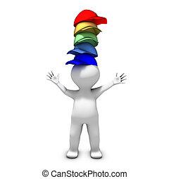 La persona que lleva muchos sombreros tiene muchas responsabilidades diferentes