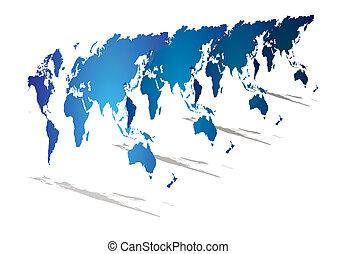La perspectiva mundial del mapa