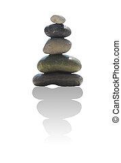 La pila de piedras de piedra en el concepto zen