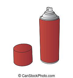 La pintura de spray puede vectorizar