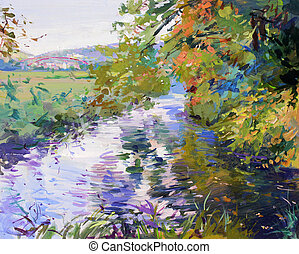 La pintura del paisaje