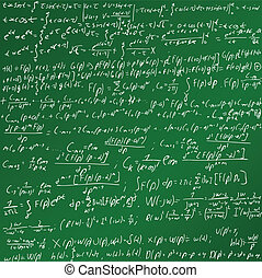 La placa de tiza de las matemáticas
