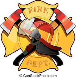 La placa del departamento de bomberos
