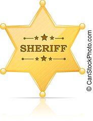 La placa del sheriff