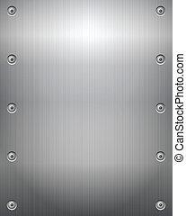 La placa metálica