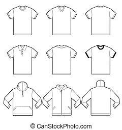 La plantilla de camisas blancas