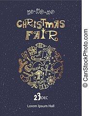 La plantilla de carteles de Navidad