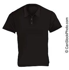 La plantilla de diseño de camisa negra