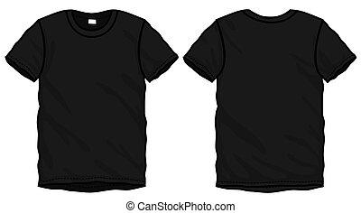 La plantilla de diseño de camiseta negra