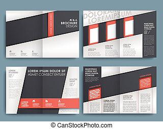 La plantilla de diseño de diseño del folleto del vector