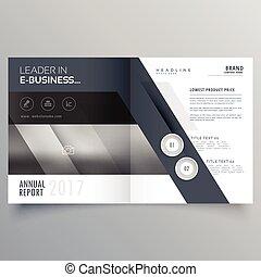 La plantilla de diseño de folletos grises