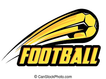 La plantilla de logo de Vector con pelota de fútbol