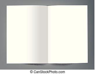 La plantilla de portada del folleto de Blank Bi