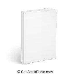 La plantilla de un libro en blanco.