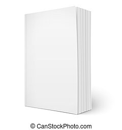 La plantilla de un libro en blanco y suave con páginas.