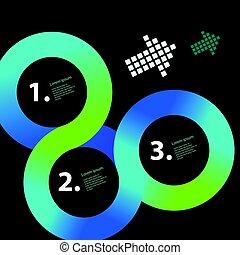 La plantilla de vectores en círculo