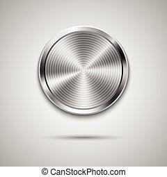 La plantilla del círculo de tecnología con textura de metal