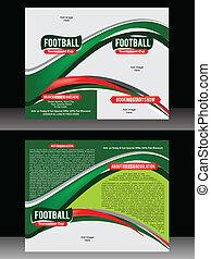 La plantilla del folleto de fútbol
