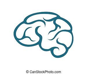 La plantilla del logo cerebral
