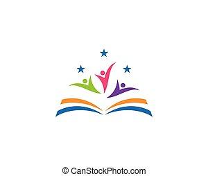 La plantilla del logo de libros