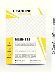 La plantilla del póster de negocios, folleto, diseño de folletos