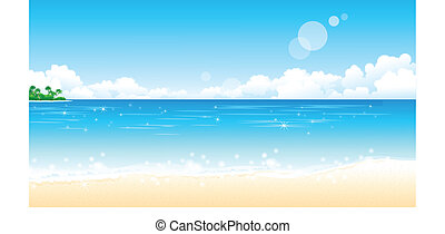La playa idílica