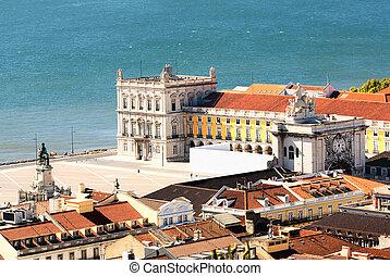 La plaza central de Lisboa praca de Lourdes, Portugal