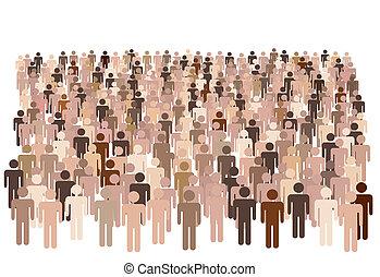 La población inversa de símbolos forma un grupo grande