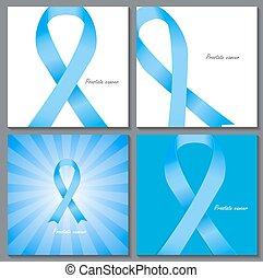 La próstata es la ilustración del vector azul de la cinta azul