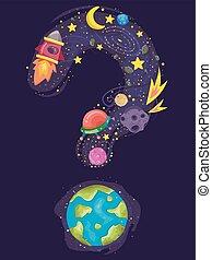 La pregunta de la Tierra marca el espacio