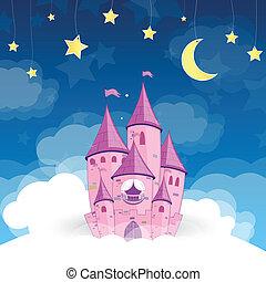 La princesa vector sueña con el castillo