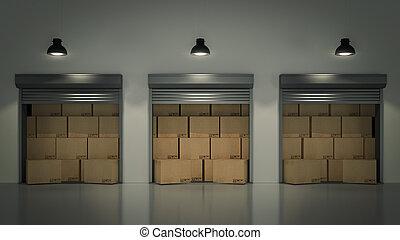 La puerta de la puerta de la entrada o la puerta de rodar