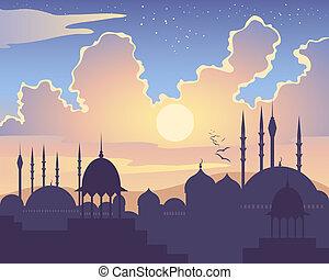 La puesta de sol islámica