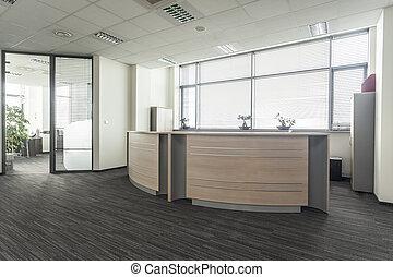 La recepción de la oficina