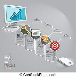 La red de computadoras de negocios. Puede usarse para diseño de flujo de trabajo, pancarta, diagrama, diseño web, plantilla gráfica.
