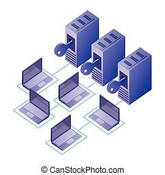 La red de datos de la base de datos del centro de seguridad