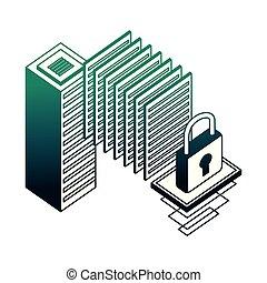 La red de datos del servidor central de datos